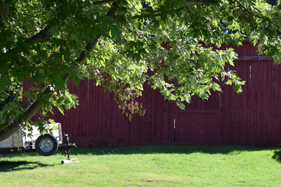 Red barn in the Niagara countryside