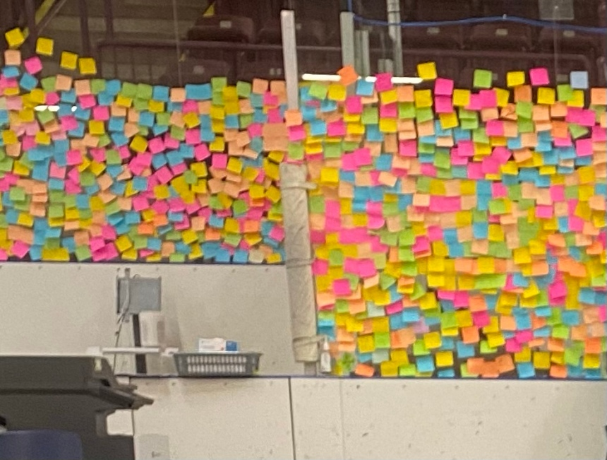 Post It Notes and Freedom. A thank you to Niagara Health.