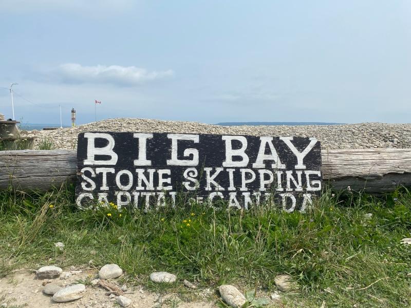 Big Bay Ontario The Stone Skipping Capital of CanadaBig Bay Ontario The Stone Skipping Capital of Canada